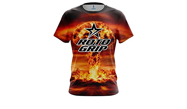 CoolWick Roto Grip Gold Block Burst Bowling Jersey