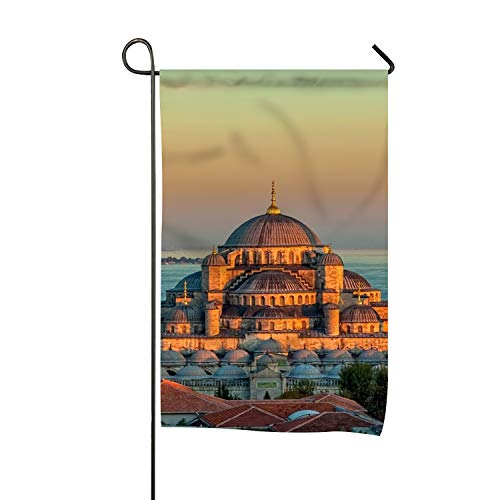 Ahmed Sultan Mosque (Dimanzo Premium Quality Seasonal Garden Flag Set for Outdoors Double-Sided Decorative Yard Flags Weather Resistant Polyester Sultan Ahmed Mosque Turkey Istanbul Sunrise Artwork)
