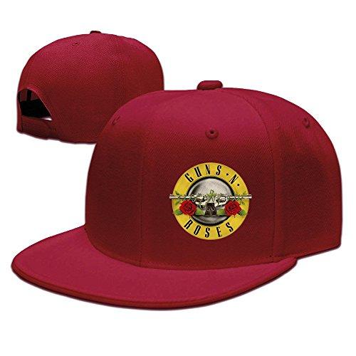 Unisex Guns N' Roses Axl Rose Sweet Child O' Mine Flat Bill Adjustable Hat