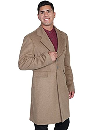 Men's Steampunk Jackets, Coats & Suits Scully Wool Blend Large Mens Frock Coat - Moss  AT vintagedancer.com