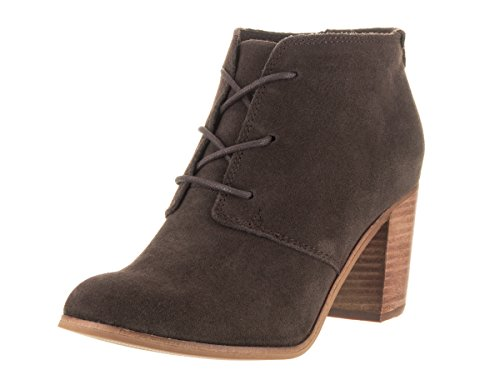 TOMS Womens Lunata Lace Up Bootie Chocolate Brown Suede Size 7 by TOMS