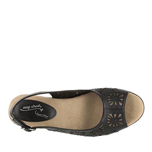 Easy Street Kaley vestido sandalias de la mujer Black