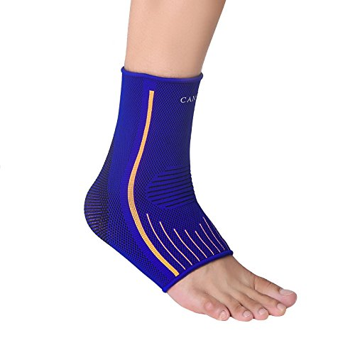 Camel Breathable Ankle Braces Support Sleeve for Basketball Running Volleyball Sport Injury, Swelling and Tendon Sprains Recovery(Blue/L)