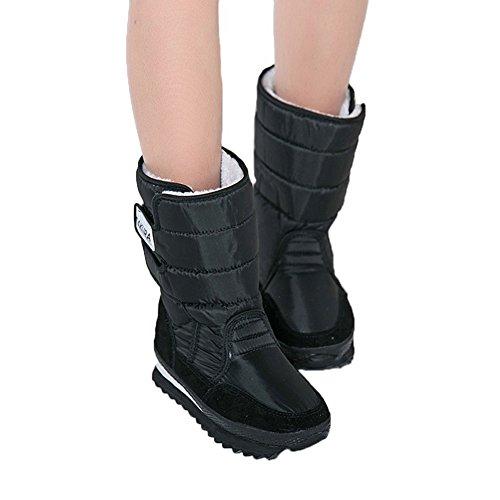 neve donne spaziali JDS stivali impermeabile Peloso da Fortuning's della stivaletti delle scarponi colorati Sakura ragazza Nero Velcro inverno 14xUOqUw