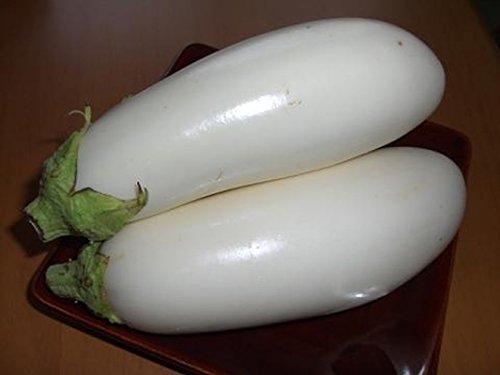 Medium White Mushroom - 10 seeds Casper Eggplant Seeds - Ivory-white skin-mushroom-like flavor! very productive!!