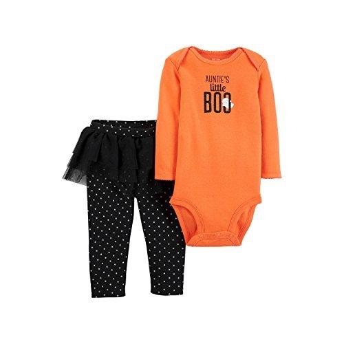 Carters Baby Girls Aunties Little BOO Halloween Bodysuit & Tutu Pant Set 3 months -