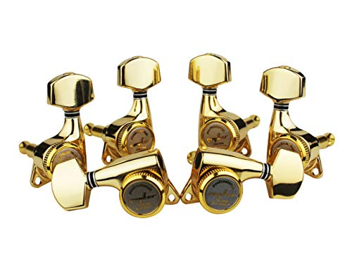 Guyker 6Pcs Guitar Machine Heads (3L + 3R) - Locking String Sealed Tuning Key Pegs Tuners Set Replacement for LP, SG, TL Style Electric or Acoustic Guitars - Golden