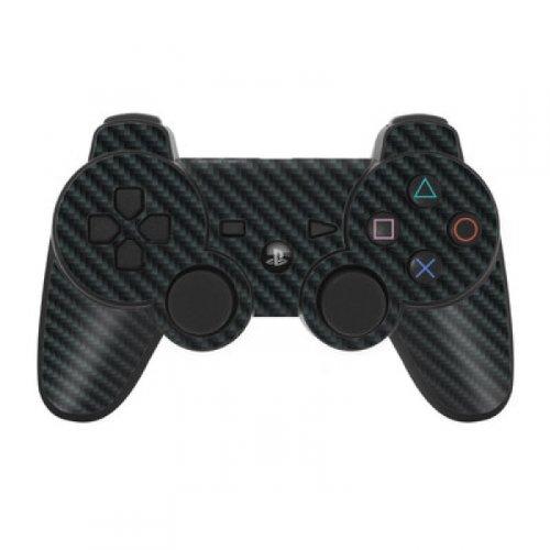 Skins4u Playstation 3 Controller Skin - Design Sticker Set für PS3 Gamepad - Carbon