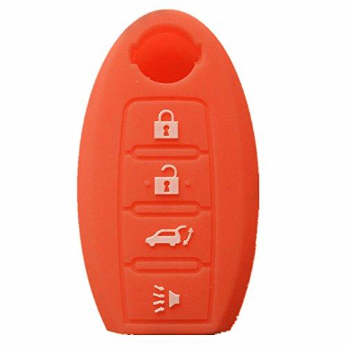 Orange silicone SMART Remote KEY cover case for NISSAN Maxima Altima GT-R Sentr Murano (Nissan Computer Altima)