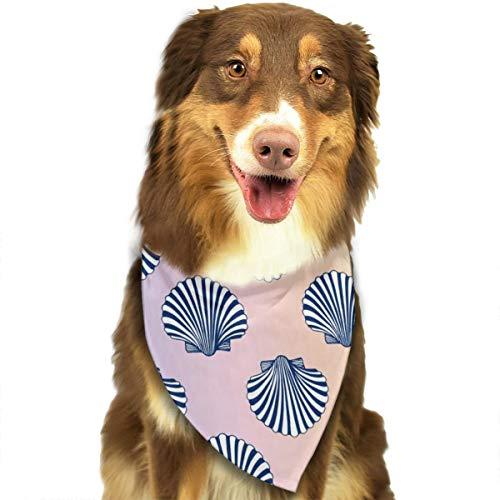 Cook Sea Scallops - LETI LISW Dog Bandanas Scallop Seashells Cotton Pet Triangle Scarf for Pets Dog and Cat