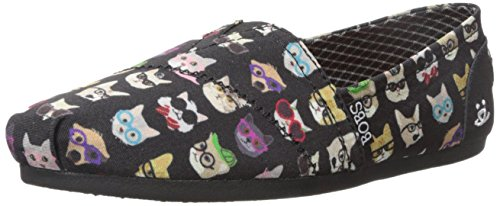 Bobs De Skechers Bobs pour chiens en peluche Slip-on Flat Black Kitty AsRS6NEN