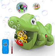 WisToyz Bubble Machine Automatic Bubble Blower 500+ Bubbles per Minute, Indoor Outdoor Bubble Machine for Kids