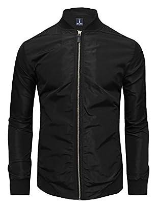 Tom's Ware Mens Stylish Front Zip Lightweight Windbreaker Jacket