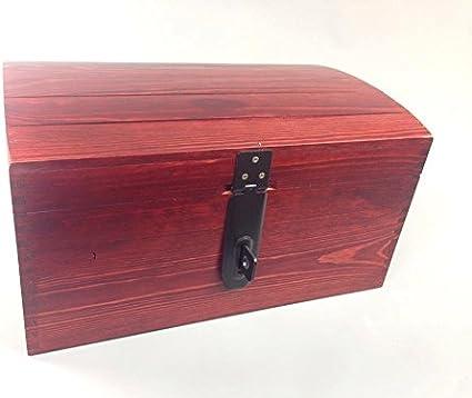 Madera de caoba tamaño extra grande caja de madera con cerradura para el cofre del tesoro MEMORY BOX trinquete SO22mm L: Amazon.es: Hogar