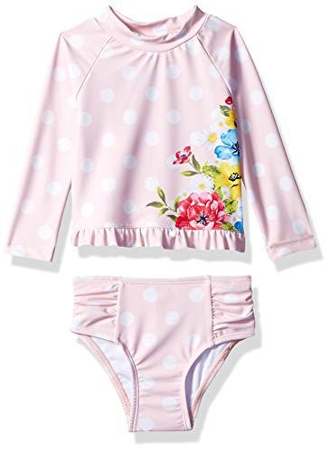 24 Months 2 Piece - Little Me Children Baby and Toddler Girls UPF 50+ 2-Piece Rashguard, Floral Dot, 24 Months