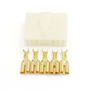 5 maneras de conector 7.8mm eléctrica Kits Hombre Mujer del enchufe del zócalo para el coche