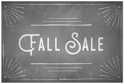 5-Pack Fall Sale Chalk Corner Window Cling 27x18 CGSignLab