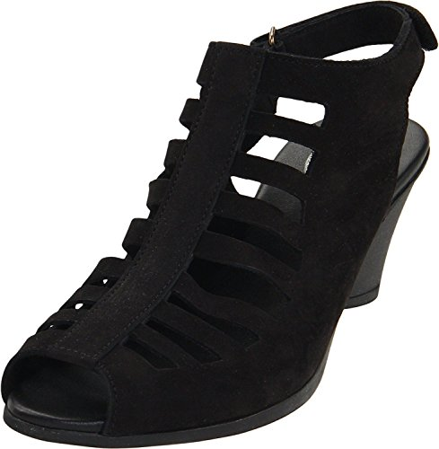 Arche Womens Shoes (Arche Women's Exor Open-Toe Pump,Noir,37 EU/6 M US)