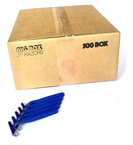 500 Box of Bulk Wholesale Disposable Twin Blade Razors for Men and Women by Big Box of Razors