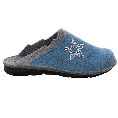 Mikado Pantofole Donna 107 kombi Blu 591 Romika aqua 591 T6qZSqd