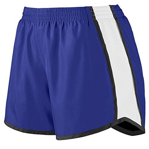 - Augusta Sportswear Augusta Girls Pulse Team Short, Purple/White/Black, Large