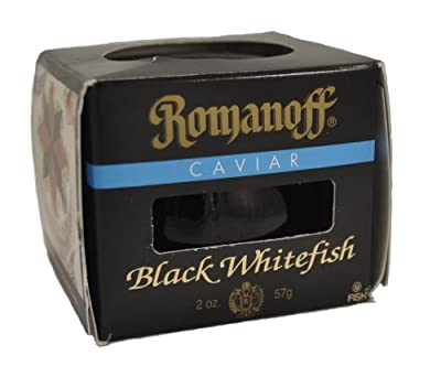 Romanoff Caviar Black Whitefish, 2-Ounce Jars (Pack of 4) from Romanoff