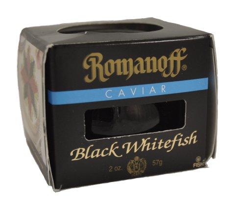 Romanoff Caviar Black Whitefish, 2-Ounce Jars (Pack of 4)
