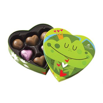 Friendly Frog Valentine Chocolate Assortment 6 Piece made in New England