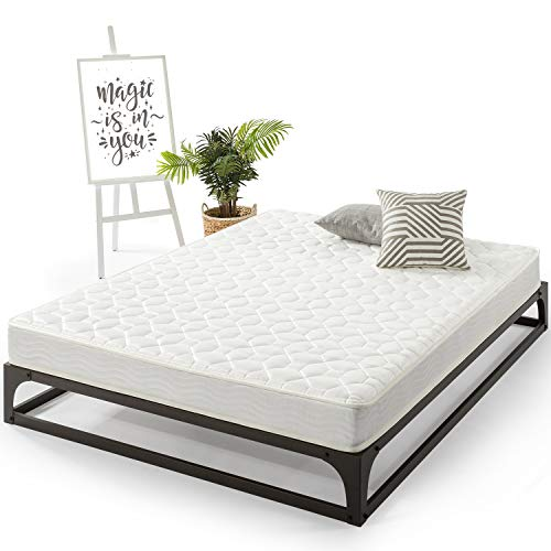 Best Price Mattress Queen Mattress - 6 Inch Tight Top Spring Mattresses Infused with Green Tea, Queen Size
