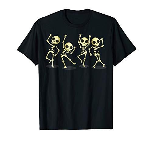 Dance of Death Macabre Skeleton Tshirt Skull Halloween