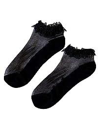 Jugendhj Hairband ��������Women Casual Summer Fashion Transparent Silk Socks Short Sock