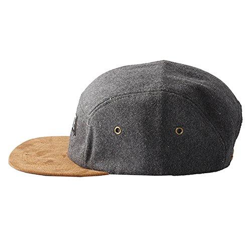 Accessoryo un Grey Ultimate Feeling Unisex Brown Panel Five Hat con pico zRzqrO4n