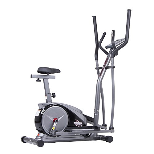 Body Champ 2-in-1 Cardio Dual Trainer, Dark Gray/Black
