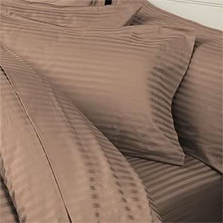 8PC ITALIAN 1000TC Egyptian Cotton GOOSE DOWN COMFORTER Bed In A Bag Sheet Duvet Full Taupe St