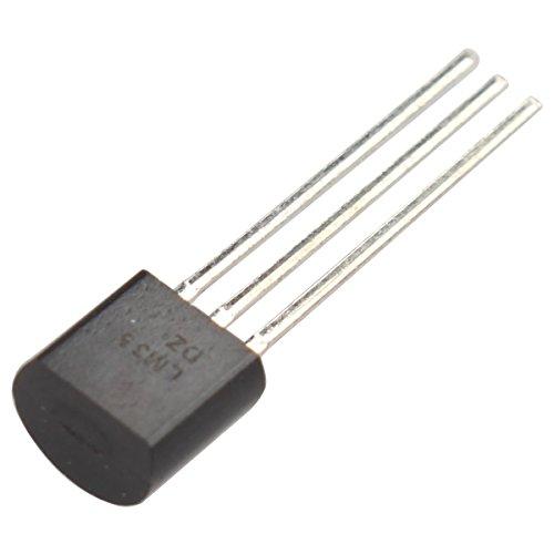 LM35DZ LM35 TO-92 alta precisión Sensor de temperatura inductor de IC para Arduino Raspberry brazo AVR DIY (2PCS): Amazon.es: Electrónica