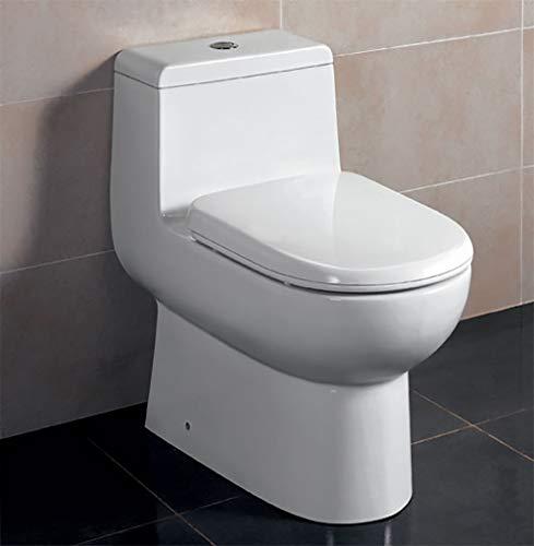 Toilette en céramique écologique à double chasse EAGO TB351, blanc, 1 pièce