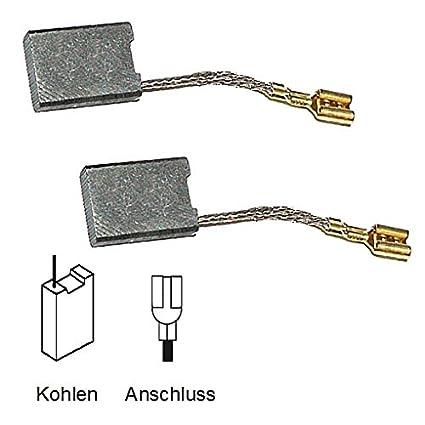 2 Motorkohlen Kohlebürsten für Bosch Schlitzfräse GSF 100 A