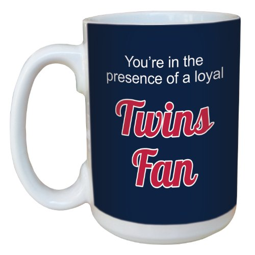 Cup Twin Pack - Tree-Free Greetings lm44093 Twins Baseball Fan Ceramic Mug with Full-Sized Handle, 15-Ounce