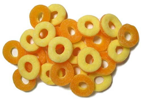 Ferrara Peach Rings Gummy Candy, 5 Pound Bulk Candy Bag