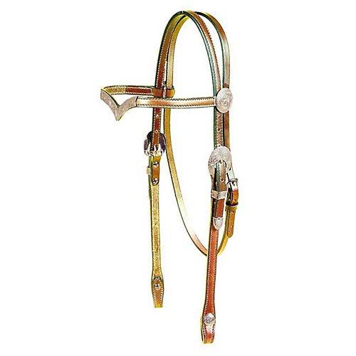 Tory Headstall - Tory Silver Oklahoma V Browband Headstall Horse Da