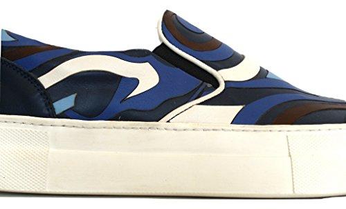 Mocassino Blu Moncler 0049100 Donna Saint Slip Scarpe on Sneaker 53215 37 Malo qqaxEv4wH
