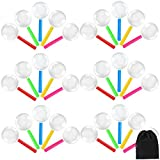 Elcoho 35 Pack Kids Plastic Magnifying Glasses Colorful Magnifying Glasses Party Favors with a Storage Bag, 5 Colors