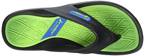 Rider Cape X Ad - Sandalias de dedo Hombre Noir (Black/Green)