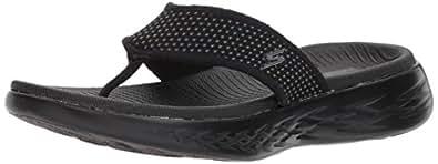 Skechers ON-THE-GO 600 Women's Sandal, Black/Black, 10 US