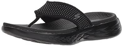 Skechers ON-THE-GO 600 Women's Sandal, Black/Black, 5 US
