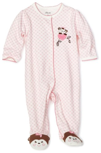 Little Me Baby-girls Newborn Sweetie Monkey Footie