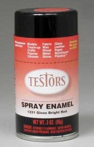 Amazon Com Gloss Bright Red Spray Testors Enamel Plastic Model