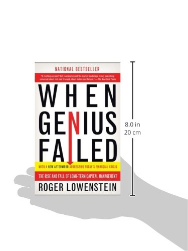 long term capital management in when genius failed by roger lowenstein Lowenstein's clear analysis shows that little has changed since the heyday of long-term capital management in other words, brace yourself, because the conditions that made this crisis possible still exist.