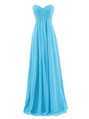 Gasa JAEDEN Honor Plisada Noche de Larga de Tirantes de Dama de Sin Vestidos de Baile Azul Vestido ZgqrZ7