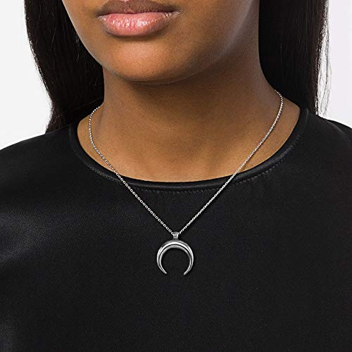 Davitu Fashion OX Horn Charm Necklaces/& Pendants for Women Moon Necklaces Box Chain Stainless Steel Best Friend Jewelry Gift Metal Color: Gold Charm
